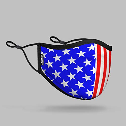 USA American Flag Face Cover with Nose Shape