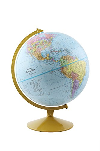 """Replogle Explorer World Blue Ocean Globe, Desktop, 12"""" diameter, Up-to-Date Cartography, Raised Relief, Educational, perfect for Students of all ages"""