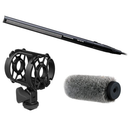 Sennheiser MKH 416-P48 Short Shotgun Interference Tube Mic & Fur Windshield Deluxe Kit