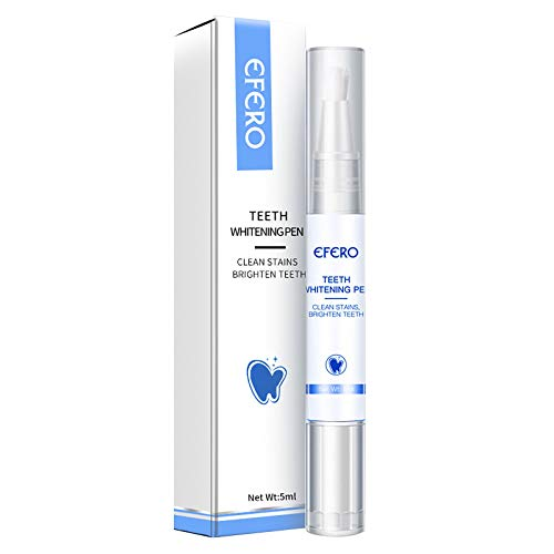 Zahnaufhellungsstift, Zahnaufhellungsgel 5 ml für strahlendes und weißes Lächeln, Professioneller, natürlicher Zahnaufhellungsgelstift ohne Peroxid