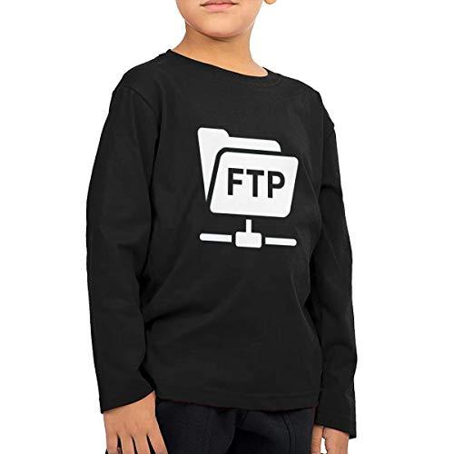 QingH Blog - FTP Hesabı Children's Boys Cotton Long Sleeve T Shirts Black