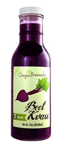 Beet Kvass, (6 Pack), Organic, Raw, Fermented, Probiotic, 12 Fl Oz