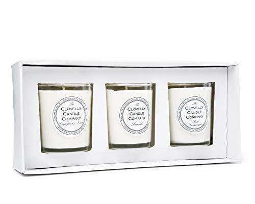 Clovelly Soap Co. Handgemachtes Votivkerzenset mit Blumenduft