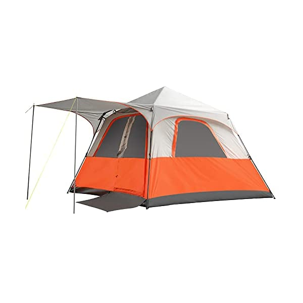 6-Person-Instant-Setup-Cabin-Tent-Camping-Tent-for-6-8-Person-w-Water-Resistant-Rainfly-60-Seconds-Instant-Setup-Poles-Stakes-Floor-Mat-10x10x7