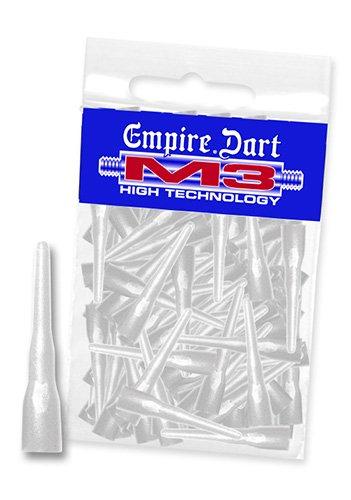Empire Dart Softdartspitzen, M3, lang, Weiss, 100 Stück, 29164