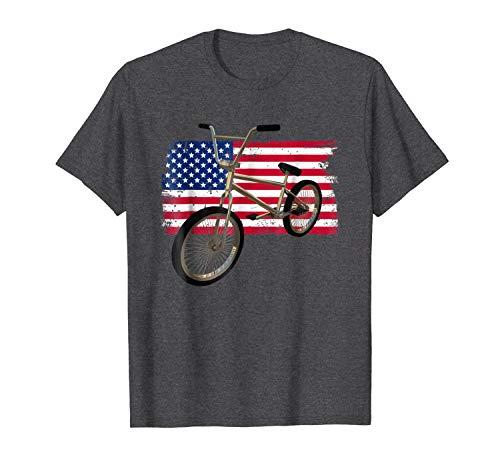 Shiyiqi1q Short Sleeve T Shirt Reto BMX USA Flag