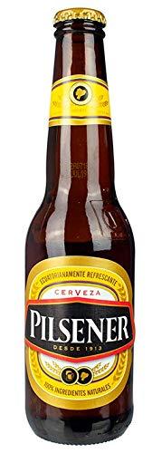 Leichteres Bier aus Ecuador, Cerveceria Nacional S.A, 4% vol, Flasche 330ml - Cerveza PILSENER