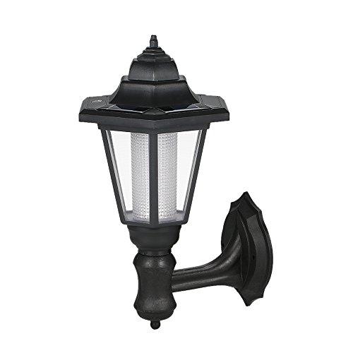 Lixada LED Solar aangedreven wandlamp lamp oplaadbaar handmatig & licht 2 bedieningsmodi IP44 waterbestendigheid.