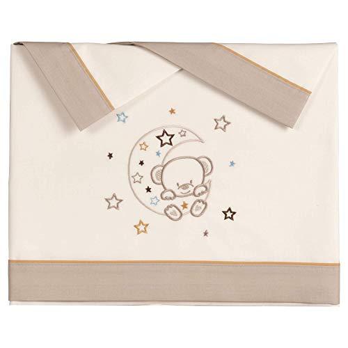 Pekebaby LUNOSO - Tríptico sábanas algodón cuna (60 x 120 cm)