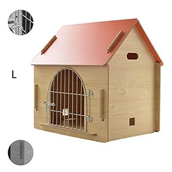Maison pour animaux lit pour animaux de compagnie Villa pour animaux de compagnie Niche pour chien en plein air Litière pour chat d'intérieur Cages et chenils ( Color : Orange , Size : 57*44*58.5cm )