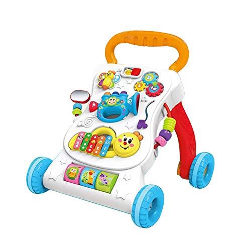 LILY Trotteur Musique Multifonctionnelle Chariot Anti-Retournement Vitesse Réglable 1-3 Ans Enfants Jouet Marcheur