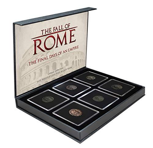 IMPACTO COLECCIONABLES Collezione Monete ANTICHITA' - La Caduta dell'Impero Roman - 6 Monete in Bronzo