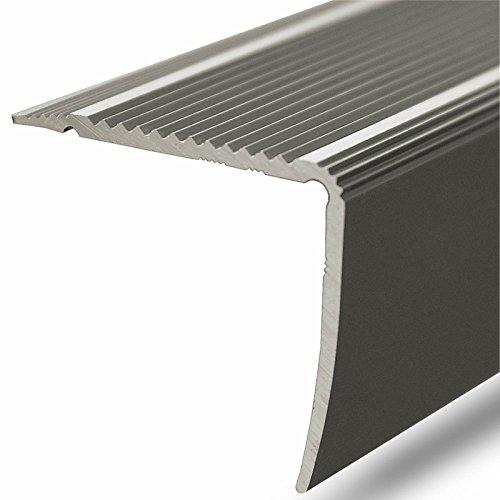 Alu Stufenkantenprofil Integral | L Form | gelochtes Profil zum Schrauben | Breite 35 mm | eloxiert Champagner | 134 cm