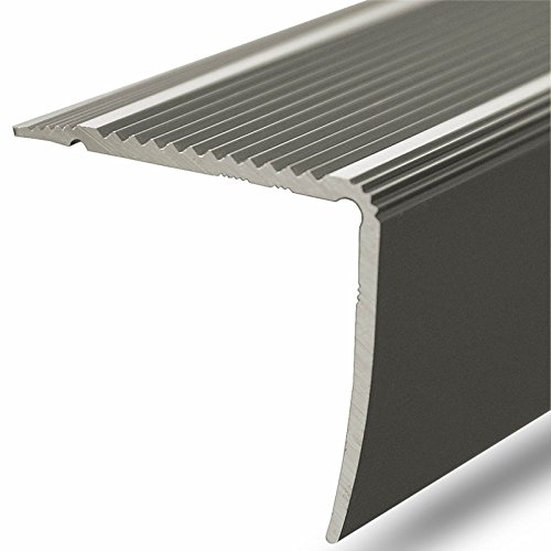 Alu Stufenkantenprofil Integral | L Form | selbstklebendes Treppen Profil | Breite 30 mm | eloxiert Champagner | 100 cm
