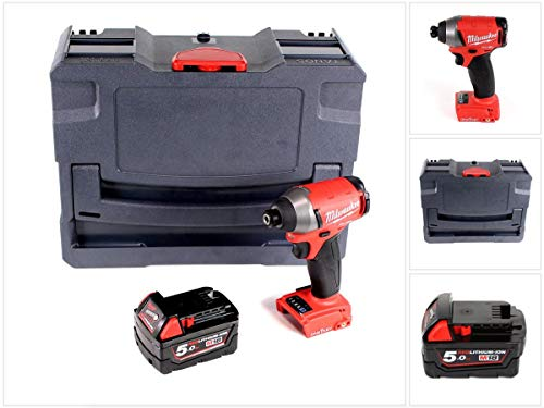 Milwaukee M18 ONEID-501 accu-slagschroevendraaier 18V 1/4' 203Nm + 1x accu 5,0Ah in TANOS systainer® T-Loc II - zonder oplader