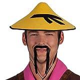 Boland 01808 - Schnurrbart Chinese, Einheitsgröße, schwarz, China-Kostüm, Asien-Kostüm, Karneval, Themenparty, Mottoparty