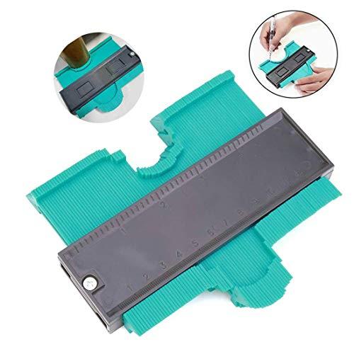 Contour Gauge Duplicator, Medidor Contornos Ideal para Azulejos Edge Shaping Madera Medida & Azulejos laminados (verde)