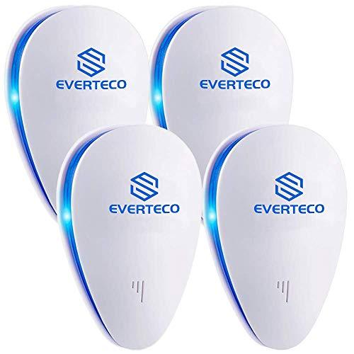 Everteco Repellente ad Ultrasuoni, Repellente Contro Parassiti, Repellente Elettronico per Zanzara, Scarafaggi,...