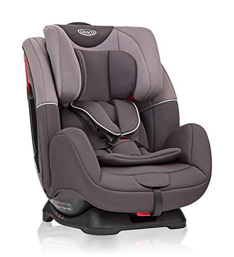 Graco Enhance Kindersitz Gruppe 0+/1/2 Autositz ab Geburt bis ca. 7 Jahre (0-25 kg), rückwärtsgerichtet bis 9 kg, vorwärtsgerichtet von 9-25 kg, Seitenaufprallschutz, mitwachsende Gurte, Iron