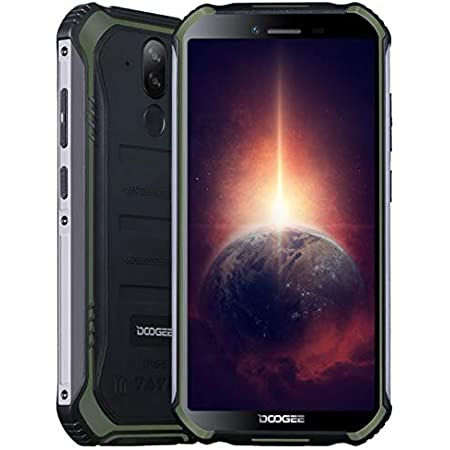 Móvil Resistente DOOGEE S40 Pro 【4GB RAM 64GB ROM】, IP68 Teléfono Libre Antigolpes Android 10, Helio A25 Octa Core, Pantalla Gorilla Glass 5.45 '', Cámara Triple 13MP, WiFi NFC Fingerprint Verde