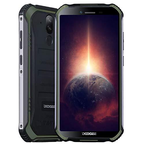 Móvil Resistente DOOGEE S40 Pro 4GB RAM 64GB ROM, IP68 Teléfono Libre Antigolpes Android 10, Helio A25 Octa Core, Pantalla Gorilla Glass 5.45   , Cámara Triple 13MP, WiFi NFC Fingerprint Verde
