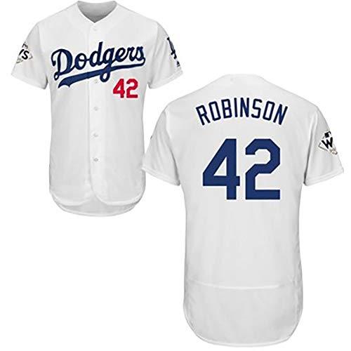 Dodgers Nr.34 und Nr.42 Robinson Herren Baseball Trikot Sportbekleidung für Fans schnell trocknend und atmungsaktiv Stoff echtes Baseball Jersey S B