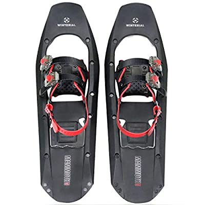 """Winterial 25"""" Lightweight Mammoth Snowshoes - Light Polymer Square-Toed Mountain Terrain Snow Shoes for Advanced Users"""