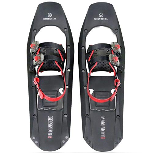Winterial 25' Lightweight Mammoth Snowshoes - Light Polymer Square-Toed Mountain Terrain Snow Shoes for Advanced Users