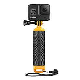 Sametop floating hand grip waterproof handle floaty handler compatible with gopro hero 9, 8 black, hero 7, 6, 5, 4… 1 【float better】the special designed floaty body of the handler makes your gopro including lcd touch bacpac, battery bacpac float better than ever and prevents go pro from sinking, so you can shoot in or around the water without any worry. 【high quality】 comfortable, textured non-slip grip handle construction for a secure and tight grip. The special tpe-rubber pole is neither as sticky as ordinary rubber, nor as easily corroded by seawater as a foam handle. Bright orange piece is easy to spot if you ever drop it in the water. 【multi purpose】the watertight hollow compartment of the floaty handheld monopod can be used as storage for your valuable small items to waterproof, or to achieve neutral buoyancy during underwater activities. Easy to install without any other mount accessories.