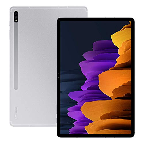 Samsung Galaxy Tab S7+ 5G Android Tablet Mystic - Silver (UK Version) (Renewed)