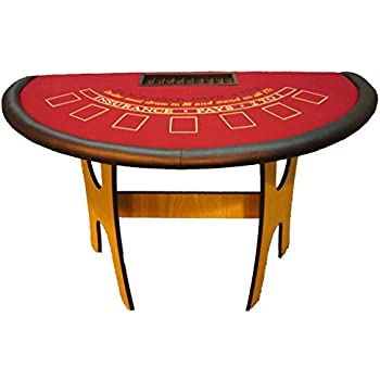 Amazon Com Acem Casino Supplies 60 Inch Oak Blackjack Table