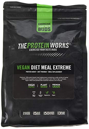 The Protein Works Vegan Diet Meal Replacement Extreme, Salted Caramel, 1 kg