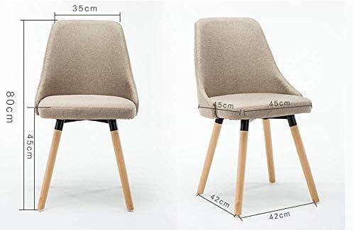 YJTGZ Chaise à Dossier Haut Chaise en Bois Massif - Dossier Doux et Tabouret créatif rembourré Moderne, Chaise de Cuisine de réception de Salon de Bureau (Couleur: Marron) Brown