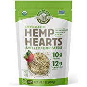 Manitoba Harvest Organic Hemp Hearts Shelled Seeds with 10g Protein & 12g Omegas per Serving, Non-GMO, Gluten Free, 7 Ounce