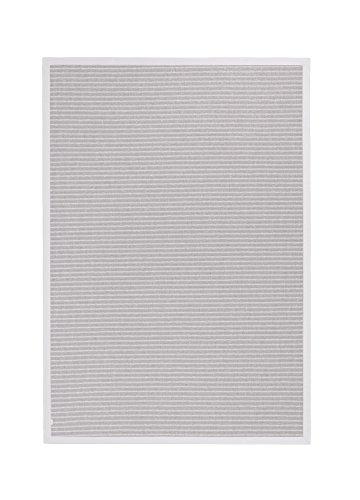 BODENMEISTER BM79110 Alfombra con Aspecto de sisal para Interior y Exterior, Tejido Plano Moderno con Cenefa, Color Gris Claro, Polipropileno, 80 x 150 cm