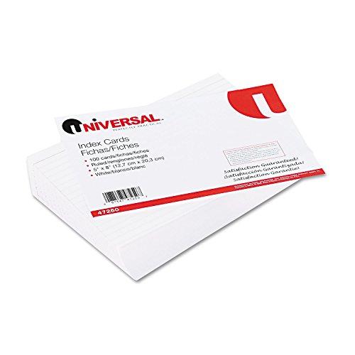 Universal liniert Karteikarten, 5x 8, weiß, 100Karten/Pack (unv47250)