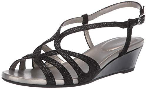 Bandolino Women's Gyala Wedge Sandal, Black, 6