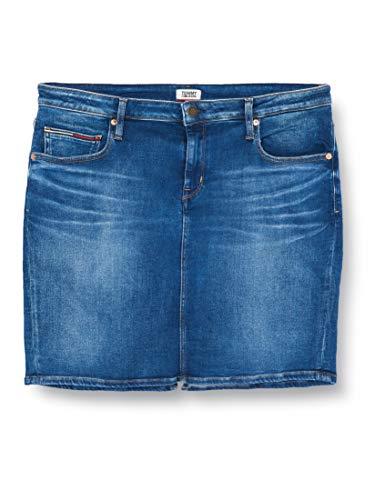 Tommy Jeans Damen Classic Skirt Mnm Rock, Blau (Denim A), 56 (Herstellergröße: NI30)