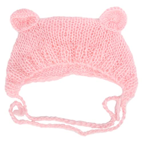 Newborn Baby Photography Prop,Pink Baby Photography Hat Infant Newborn Photography Prop Hat Beanie for 0‑6 Months Old Baby