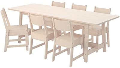 Amazon.com: roundhill Muebles karven 7-Piece Set de comedor ...