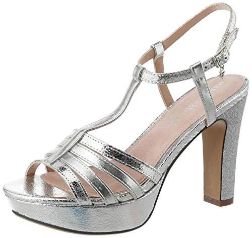 Sandalias Mujer MARIAMARE | Sandalias 67714 | MARIAMARE Mujer | Sandalias Zapato de tacón | Cierre con Hebilla | 46713 | Plata | 38