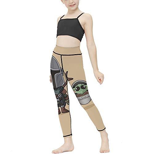 Ma-nda-lorian And Yo-da - Leggings para niña, lindos leggings para niños, chic, pantalones largos delgados para deportes, yoga, hogar, 8-10 años