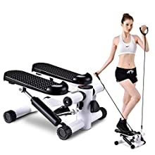 DFGENLY Mini Air Stepper Aerobic Up-Down Twister Household Silent Stair Fitness Equipment with Carpetr and Resistance Bands, Full Body Workout for Household, Gym, Office