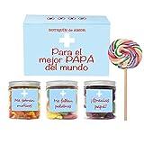 SMARTY BOX Regalo Original para el Mejor Papá del Mundo, Caja de Caramelos y Gominolas con Frases