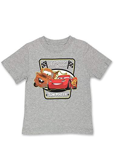 Disney Cars Tow Mater Toddler Boys Short Sleeve T-Shirt Tee (4T, Gray)