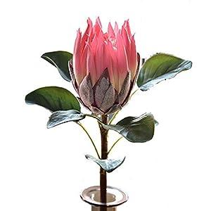 APRIL 3PCS Artificial Flower Protea Flowers Tropical Plant Decoration Flowers Artificial Protea Cynaroides Silk Flower for Floral Arrangements Home Party Wedding Decor (Pink)