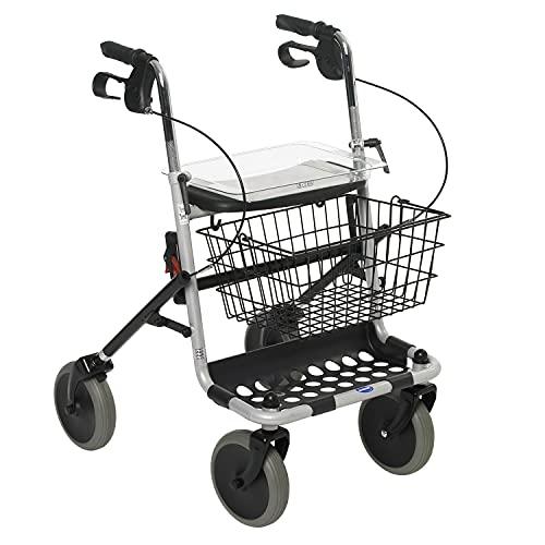 Invacare - Andador con ruedas y bandeja, color plateado