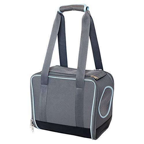 Bolsa de viaje para mascotas con apertura superior y ventilación transpirable, portátil, tamaño pequeño, 12.9 x 7 x 11 pulgadas (gris oscuro)
