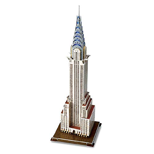 Rompecabezas De Madera 3D American Chrysler Building Stereo Jigsaw Puzzle, Juguete Educativo De Bricolaje