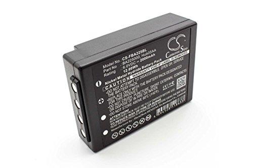 vhbw Akku kompatibel mit Kran Fernbedienung Ersatz für HBC BA225030, BA226030, 005-01-00615, FuB05XL, FuB5AA, Fub9NM (2000mAh, 6V, NiMH)